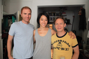 Producer Steve Loff with Melody Cheng and J.D. Oxblood.