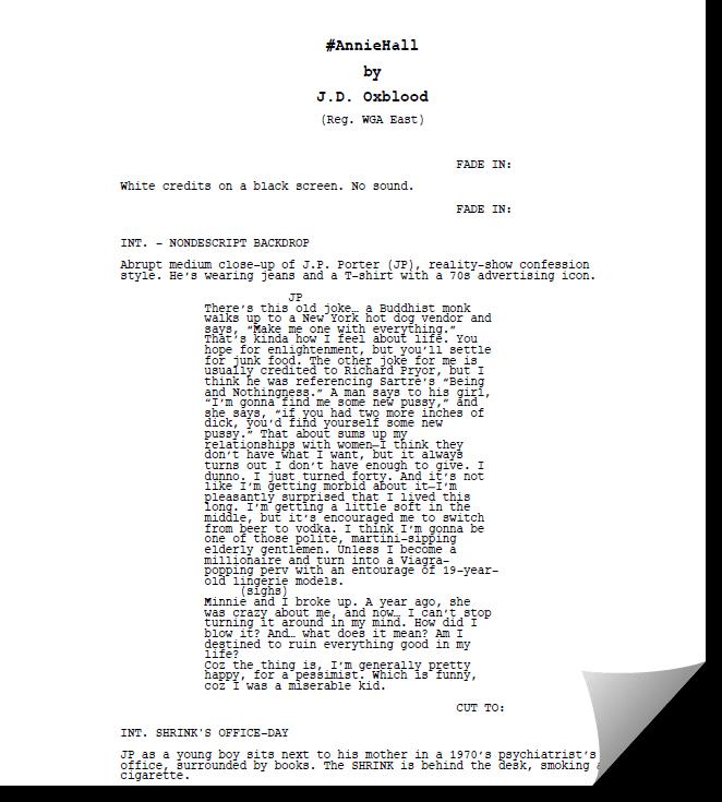 Hashtag Annie Hall Full Script